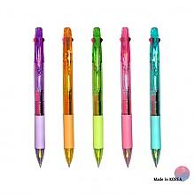 2색형광+볼펜 투명(3in1)