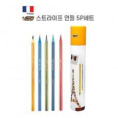 [BIC] 스트라이프 연필 5P 세트